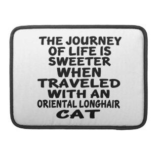 Bolsa MacBook Pro Viajado com o gato Longhair oriental