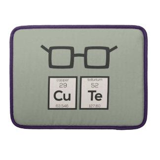 Bolsa MacBook Pro Vidros bonitos Zwp34 do nerd do elemento químico
