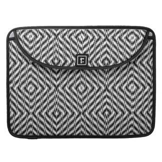 Bolsa MacBook Pro Ziguezague preto e branco