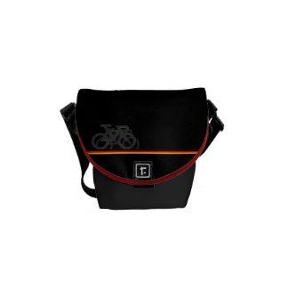 Bolsa Mensageiro Bicicleta com linhas de bandeira Alemão-inspiradas