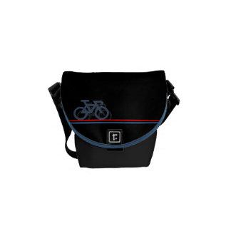 Bolsa Mensageiro Bicicleta com linhas de bandeira Países