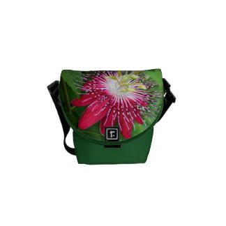 Bolsa mensageiro da flor da paixão a mini