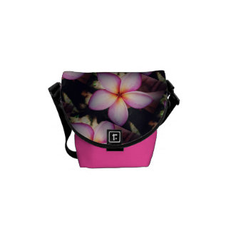 Bolsa mensageiro da flor de Frangipane a mini