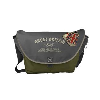 Bolsa Mensageiro Dog tags patriótico de Ingleses do estilo do