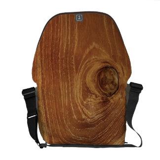 Bolsa Mensageiro Foto de madeira rústica do teste padrão da