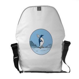 Bolsa Mensageiro Linha do círculo de Antartica da pá do pinguim de