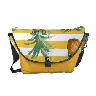 Bolsa Mensageiro listras amarelas dos pinepples