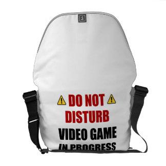 Bolsa Mensageiro Não perturbe o jogo de vídeo