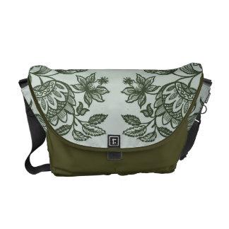 Bolsa Mensageiro ornaments o verde de musgo