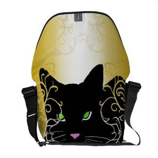 Bolsa Mensageiro Saco chique dos gatos da forma do amante do gato