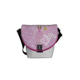 Bolsa Mensageiro Saco feericamente cor-de-rosa bonito Customisable