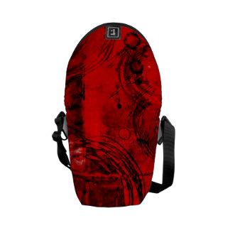 Bolsa mensageiro vermelha/preta