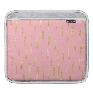 Bolsa Para iPad A pintura na moda do ouro afaga o rosa