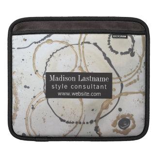 Bolsa Para iPad Abstrato elegante do ouro e do preto