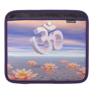 Bolsa Para iPad Aum - OM em cima dos waterlilies - 3D rende