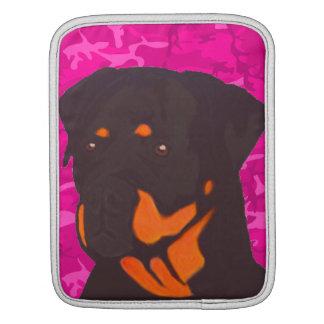 Bolsa Para iPad Camo cor-de-rosa com Rottweiler