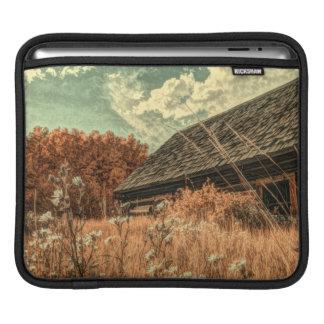 Bolsa Para iPad celeiro velho da fazenda do wildflower do campo do