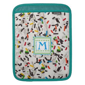 Bolsa Para iPad Colorido polvilha com o monograma