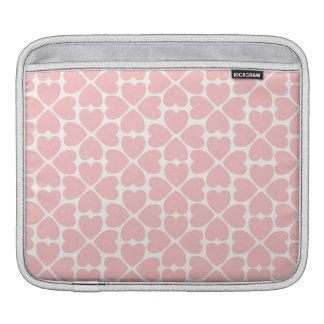 Bolsa Para iPad Corações do trevo da folha do rosa quatro