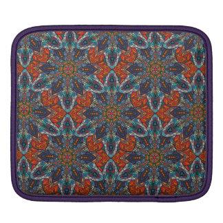 Bolsa Para iPad Design floral do teste padrão do abstrato da