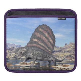 Bolsa Para iPad Dimetrodon que está em uma lagoa no deserto