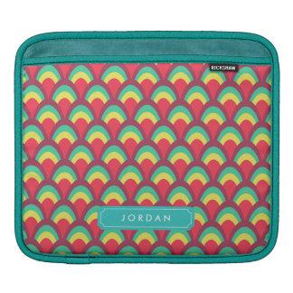 Bolsa Para iPad Geométricos coloridos à moda personalizam com nome