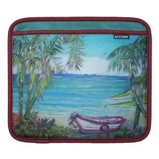 Bolsa Para iPad Ilha de Fiji - almofada do iPad horizontal