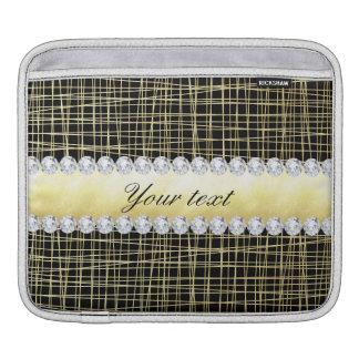 Bolsa Para iPad Linhas e diamantes transversais de Criss do ouro