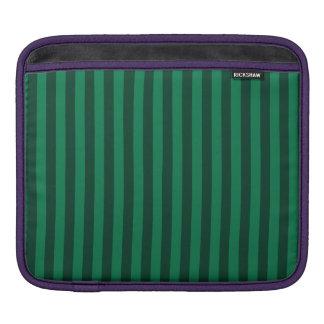 Bolsa Para iPad Listras finas - verdes e verdes escuro
