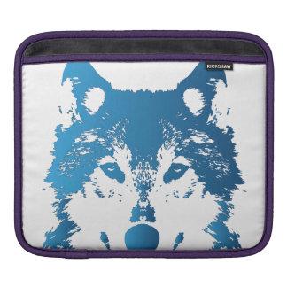 Bolsa Para iPad Lobo do azul de gelo da ilustração