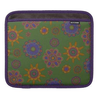 Bolsa Para iPad Malva & flores do ouro
