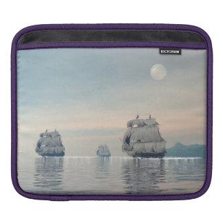 Bolsa Para iPad Navios velhos no oceano - 3D rendem