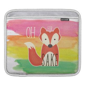 Bolsa Para iPad Oh para listras da aguarela da causa do Fox