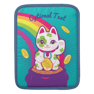 Bolsa Para iPad Pote de boa sorte de Maneki Neko do gato de ouro