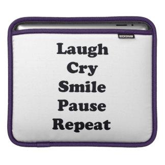 Bolsa Para iPad Repetição do riso