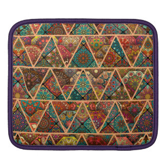 Bolsa Para iPad Retalhos do vintage com elementos florais da