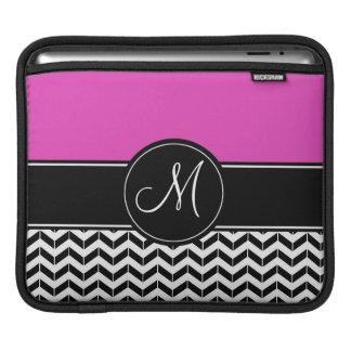 Bolsa Para iPad Rosa quente customizável de Chevron