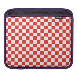 Bolsa Para iPad Tabuleiro de damas vermelho