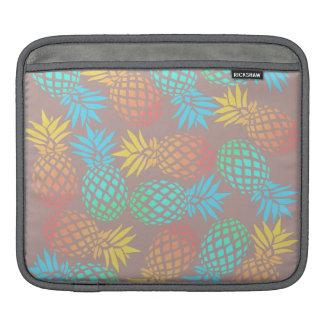 Bolsa Para iPad teste padrão colorido tropical do abacaxi do verão