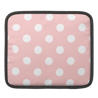 Bolsa Para iPad Teste padrão de bolinhas cor-de-rosa e branco