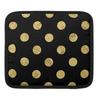 Bolsa Para iPad Teste padrão de bolinhas elegante da folha de ouro