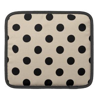 Bolsa Para iPad Teste padrão de bolinhas preto - Tan