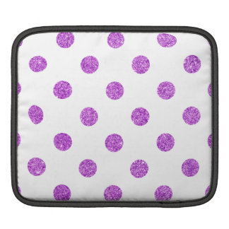 Bolsa Para iPad Teste padrão de bolinhas roxo elegante do brilho