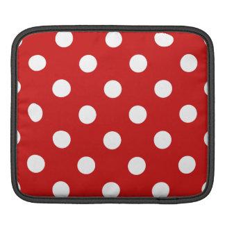 Bolsa Para iPad Teste padrão de bolinhas vermelho e branco