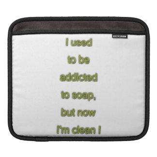 Bolsa Para iPad Texto engraçado do sabão