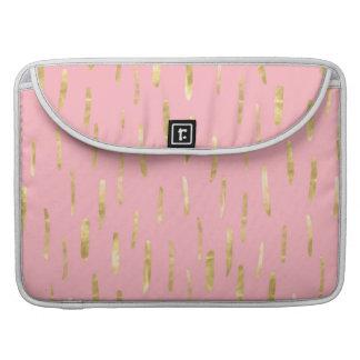 Bolsa Para MacBook A pintura na moda do ouro afaga o rosa