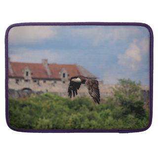 Bolsa Para MacBook Águia americana que passa o forte Ticonderoga
