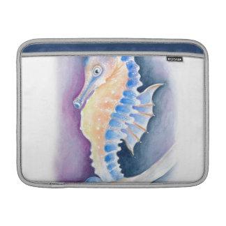 Bolsa Para MacBook Air Arte da aguarela do cavalo marinho