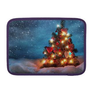 Bolsa Para MacBook Air Árvore de Natal - decorações do Natal - flocos de