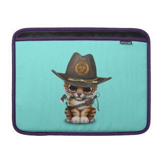 Bolsa Para MacBook Air Caçador bonito do zombi de Cub de tigre